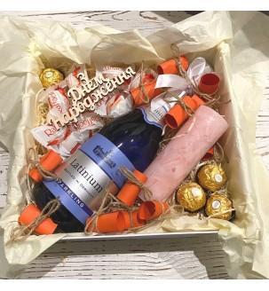 Подарунок дівчині романтичний з вином № 327 Подарунки - 1