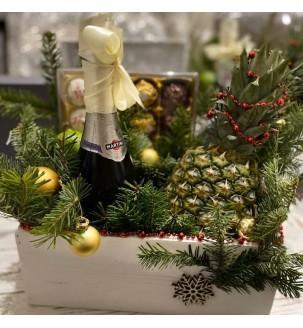 Новогодний ящик с шампанским Подарки на Новый Год - 1