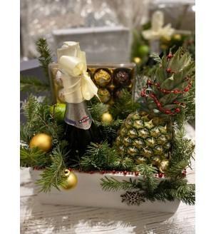 Новорічний ящик з шампанським Подарунки на Новий Рік - 6