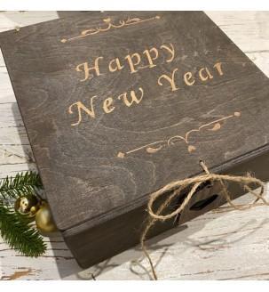 Подарунковий набір з вином і медовою свічкою №309 Подарунки на Новий Рік - 3