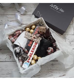 Подарочный набор для двоих чай+кофе №308 Подарки WOW BOX - 3