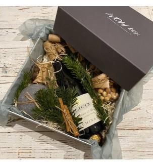 Подарунковий набір з вином і свічкою №307 Подарунки на Новий Рік - 1