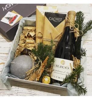 Подарочный набор с вином и свечой №307 Подарки на Новый Год - 2