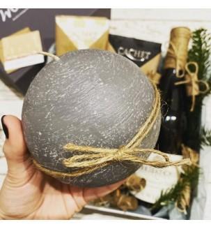 Подарунковий набір з вином і свічкою №307 Подарунки на Новий Рік - 3