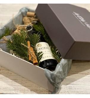 Подарунковий набір з вином і свічкою №307 Подарунки на Новий Рік - 6