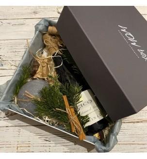 Подарунковий набір з вином і свічкою №307 Подарунки на Новий Рік - 7