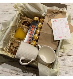 Чайный подарочный набор с чашечками Подарки WOW BOX - 2