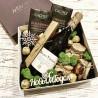 Подарочный набор с вином, орехами и шоколадом №303 Подарки WOW BOX - 3