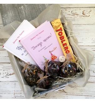 """""""Книга в подарок"""" - подарочный набор в деревянном боксе"""