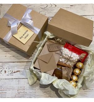 Корпоративный подарок с чаем и сладостями №504