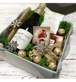подарочный бокс с вином на николая