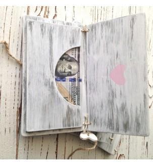Подарунковий конверт з дерева для грошей