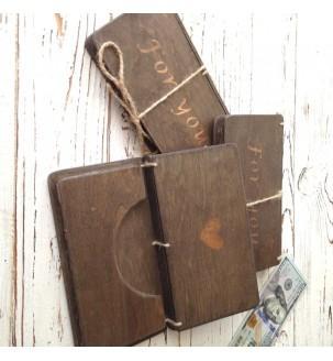 Подарочный конверт для денег деревянный