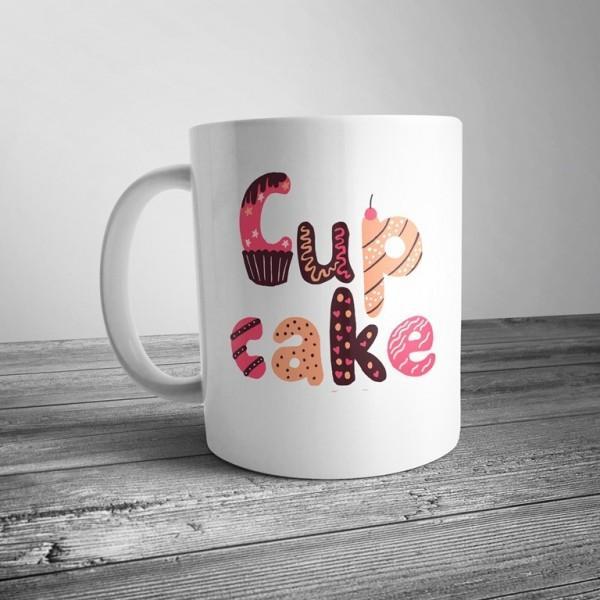 """Чашка с налдписью """"Cup Cake"""""""