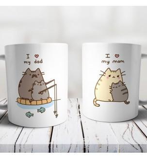 Чашки з принтом для батьків