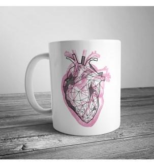 Чашка с рисунком Серце настоящее