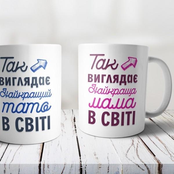 Чашка для кращої мами з принтом