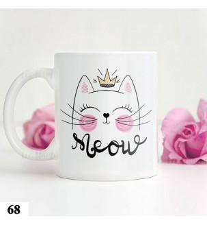 Чашка с котиком-принцесою №68