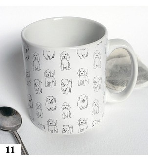 Чашка с собачками черно-біла