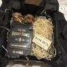 Коробка подарочная для бутылки с камнями для виски