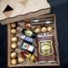 Деревянный подарочный бокс мини-бутылочками