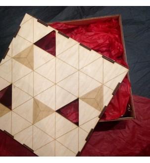 Подарунок в дерев'яній коробці вау бокс 16