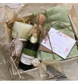СПА набір з шампанським Жіночі подарункові набори - 2