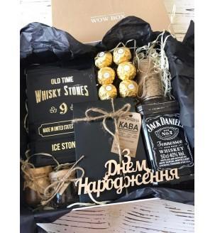 Подарунковий бокс з віскі і кави №260 Подарунки WOW BOX - 2