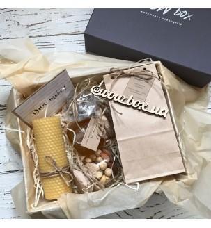 Медовый подарочный бокс с чаем №297 Подарки WOW BOX - 1