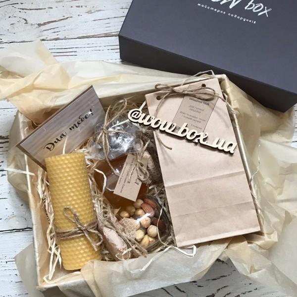 Медовий бокс з чаєм №297 Подарунки WOW BOX - 1