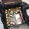 Деревянный подарочный бокс мини-бутылочками Мужские подарочные наборы - 5