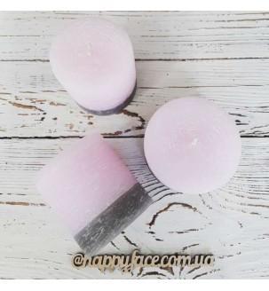 Свічка декоративна рожево-сіра 5х8 см Подарунки - 2