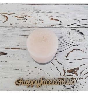 Свічка декоративна персикового кольору 7,5х7 см Подарунки - 1