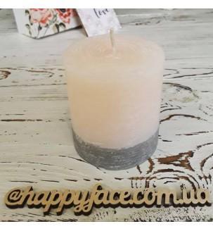 Свічка декоративна персикового кольору 7,5х7 см
